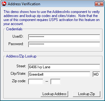 Verifying an address