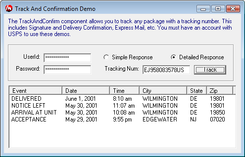 Track and Confirm a Tracking Number